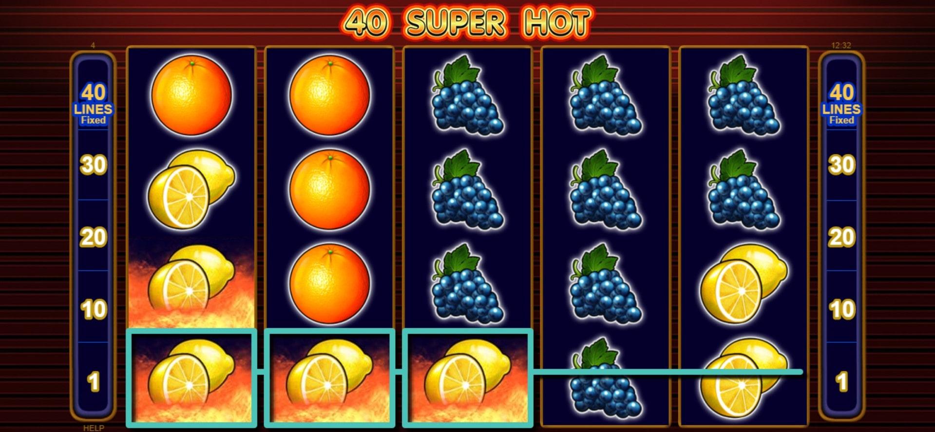 Игровой автомат 40 Super Hot играть онлайн